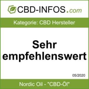 CBD-Infos.com Nordic Oil Auszeichnung