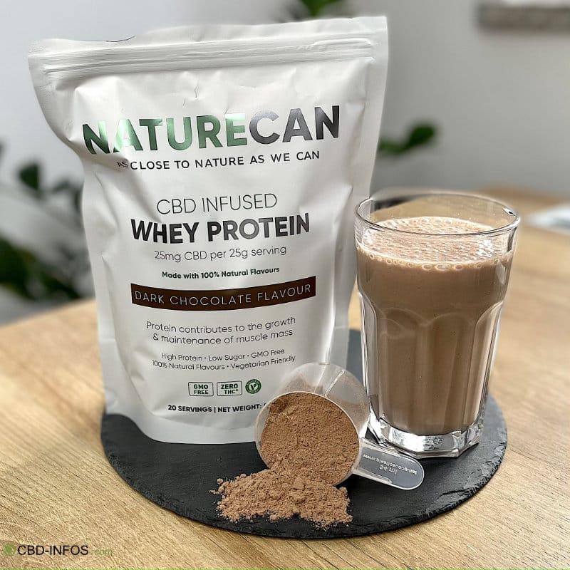 CBD Whey Protein von Naturecan im Test