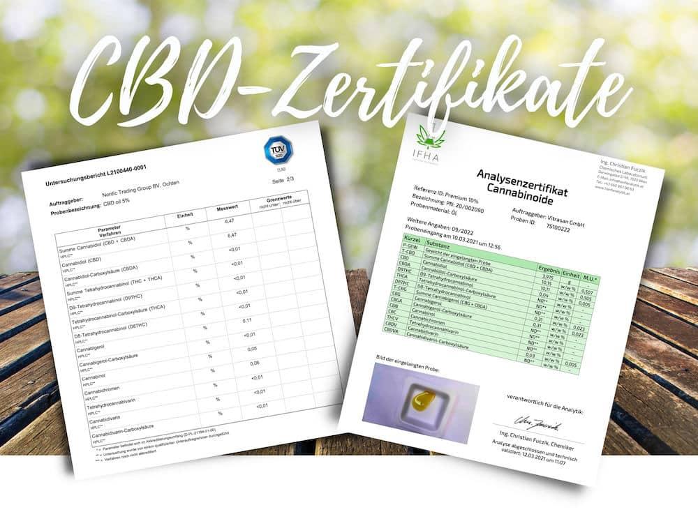 CBD Analysezertifkate Tüv