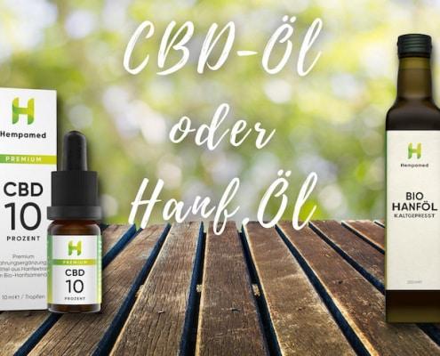 CBD-Öl oder Hanföl Unterschied